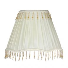 Ivory Faux Silk Lined Fabric Fabric Lamp Shade S425/12 IV - Oaks Lighting